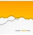 abstract background composed of white paper clouds vector image vector image