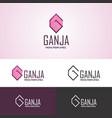 abstract g shaped logo vector image