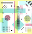 abstract geometric elements pastels color pattern vector image vector image