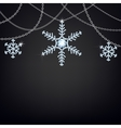 Backgound with snowflakes vector image vector image