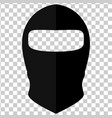 balaclava in style of flat on a transparent vector image