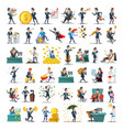business people characters collection businessman vector image vector image