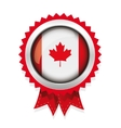 Canada flag badge vector image vector image