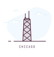 chicago line style vector image