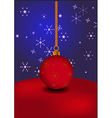 Christmas ball on abstract background vector image