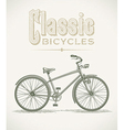 Classic cruiser bicycle vector image vector image