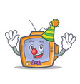 clown tv character cartoon object vector image vector image