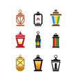 collection of fanoos lantern graphic design vector image