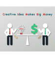 creative idea business concept vector image vector image