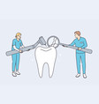 dental clinic and healthcare concept vector image