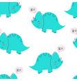 dinosaur and slogans seamless pattern vector image vector image