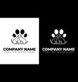 dog cat veterinary clinic logo template vector image vector image