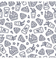 doodles pattern vector image vector image