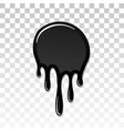 drip paint 3d ink stain drop melt liquid vector image vector image