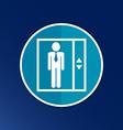 elevator icon button logo symbol concept vector image vector image