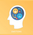 emotions concept modern gradient flat vector image