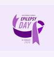epilepsy day vector image