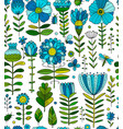floral meadow seamless pattern for your design vector image vector image