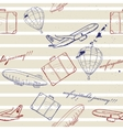 flying vehicles journey seamless pattern vector image vector image