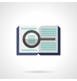 Forensic literature flat color icon vector image