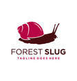 forest snail animal logo template vector image vector image