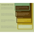 four consecutive frame elements with lots room vector image vector image