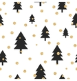 Gold shimmer glitter polka dot and black tree vector image vector image
