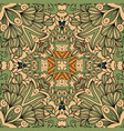 green and beige floral decorative pattern vector image vector image