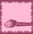 happy valentines day pink with hearts vector image vector image