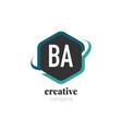 initial letter ab creative hexagonal design logo