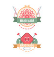 labels for handmade embroidery tailor hand vector image