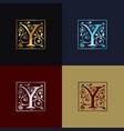 letter y decorative logo vector image vector image