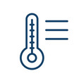 mercury thermometer with temperature scale simple vector image