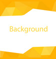 modern yellow polygon white background imag vector image