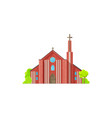monastery christian religion building isolated vector image vector image