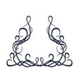 ornament of lines and curls vector image