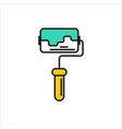 paint roller icon on white background vector image vector image