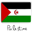 Palestine flag doodle vector image vector image