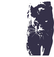 panther walking from dark logo design vector image vector image