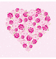 Pink valentine heart with roses