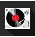 record player with vinyl isolated vector image