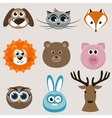 Set of cute animals vector image