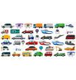 set transportation vehicle vector image vector image