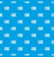 sled pattern seamless blue vector image