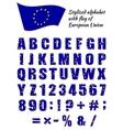 Stylized alphabet vector image vector image