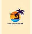 sunset logo design vector image vector image