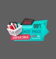 super sale 50 percent off best offer banner vector image vector image