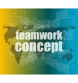 teamwork concept - business growth on touch screen vector image