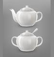 teapot and sugar bowl vector image