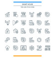 thin line design smart home icons vector image